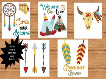 Tribal Theme Bulletin Board Prints Classroom Decor