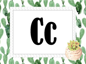 Cactus Themed Classroom Alphabet and 1-10