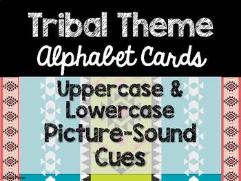 Tribal Theme Classroom Decor: Alphabet Cards