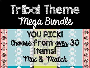 Tribal Theme Classroom Decor: Build Your Own Mega Bundle