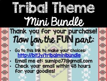 Tribal Theme Classroom Decor: Build Your Own Mini Bundle
