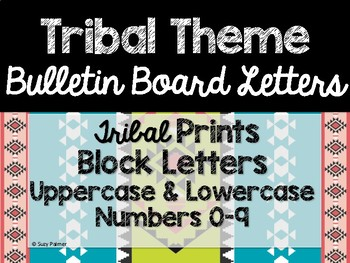 Tribal Theme Classroom Decor: Bulletin Board Block Letters