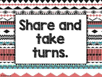 Tribal Theme Classroom Decor: Classroom Rules