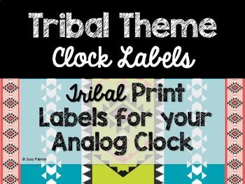 Tribal Theme Classroom Decor: Clock Labels