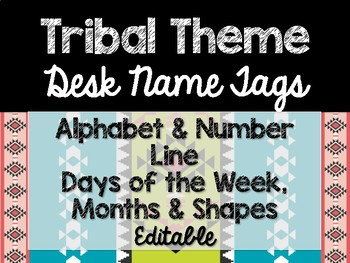 Tribal Theme Classroom Decor: Desk Name Tags