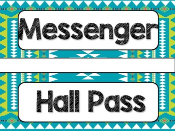 Tribal Theme Classroom Decor: Hall Passes