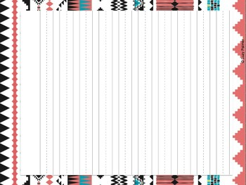 Tribal Theme Classroom Decor: Lined Papers