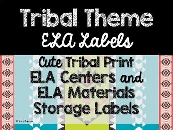 Tribal Theme Classroom Decor: Literacy Center Labels