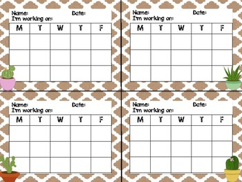 Tribal Theme Classroom Decor: Mini Incentive Charts