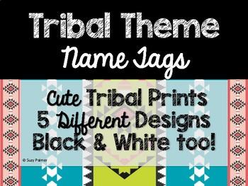 Tribal Theme Classroom Decor: Name Tags