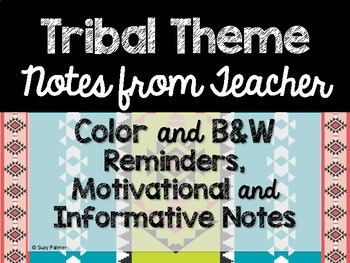 Tribal Theme Classroom Decor: Notes from Teacher