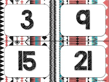 Tribal Theme Classroom Decor: Numbers 1-100