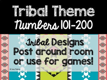 Tribal Theme Classroom Decor: Numbers 101-200
