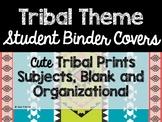 Tribal Theme Classroom Decor: Student Binder Covers
