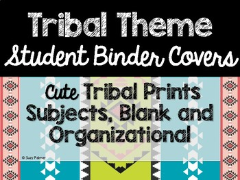 Tribal Theme Classroom Decor: Student Binder Covers
