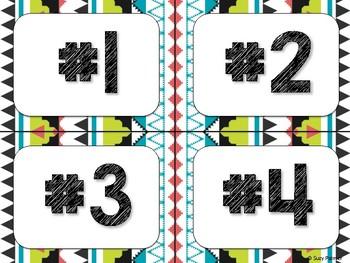 Tribal Theme Classroom Decor: Table Signs