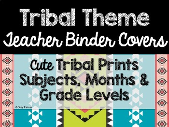 Tribal Theme Classroom Decor: Teacher Binder Covers