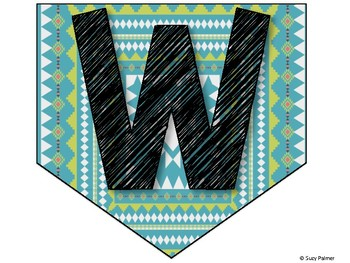 Tribal Theme Classroom Decor: Welcome Banner