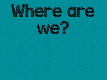 Tribal Theme Classroom Decor: Where Are We? Sign