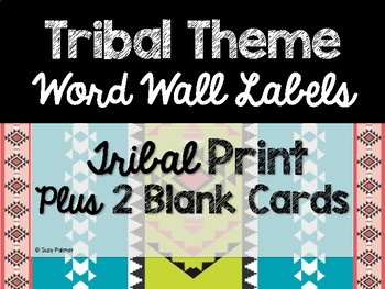 Tribal Theme Classroom Decor: Word Wall Headers