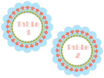 Tribal Theme Table Labels