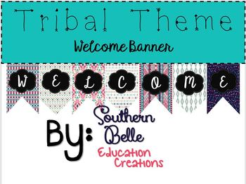 Tribal Theme Welcome Banner