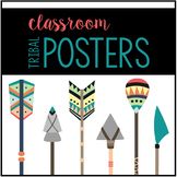 Tribal Woodland Themed Colored Posters