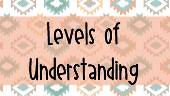 Tribal Themed Levels of Understanding