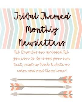 Tribal Themed Monthly Newsletter