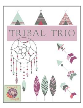 Tribal Trio ClipArt