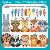 Tribal Woodland Animal Clip Art, Forest Animals