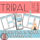 Tribal Woodland Brochure Theme Editable Meet The Teacher Template Back To School