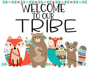 Tribal Woodland Creatures Classroom Decor Set