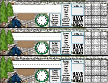 Tribal Woodland Desk Plates/Name Tags - Easy Prep!
