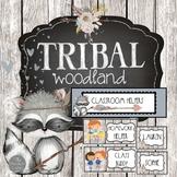 Tribal Woodland Forest Theme Classroom Job Chart