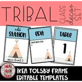 Tribal Woodland IKEA Tolsby Frame Editable Template Classroom Decor Set