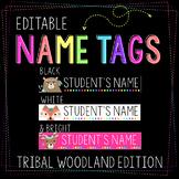 Tribal Themed Woodland Name Tags