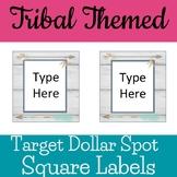Tribal Woodland Theme Target Dollar Spot Square Labels Editable
