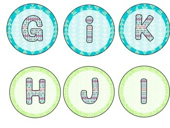 Tribal Word Wall Letters