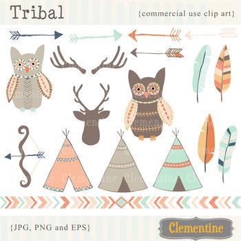 Tribal clip art - Lovely Clementine