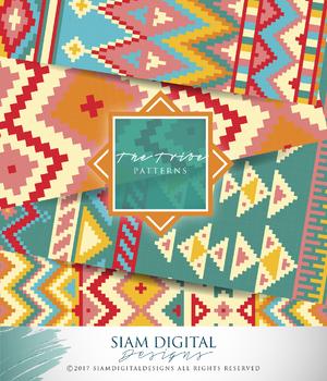 Tribal-themed digital paper