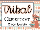 Tribal Classroom Mega Bundle - Navy and Coral