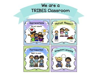 Tribes posters for the classroom
