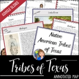 American Indians of Texas Annotated Map for Texas History 7th Grade