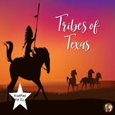 Native Tribes of Texas with Content Readings Annotated Map for ELL or 4th Grade