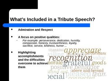 Tribute Speech PowerPoint