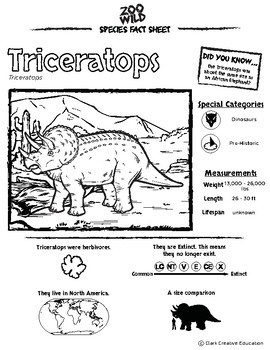 Triceratops - 15 Resources - Leveled Reading, Slides & Activities