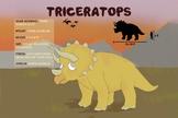 Triceratops - Dinosaur Poster & Handout