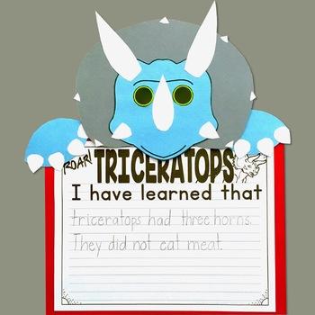 Triceratops Dinosaur craft