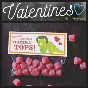 Tricertops Valentine Treat Topper